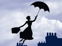 Mary Poppins image bluescale